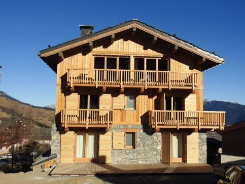 Facade chalet - Location chalet vacance Valmorel