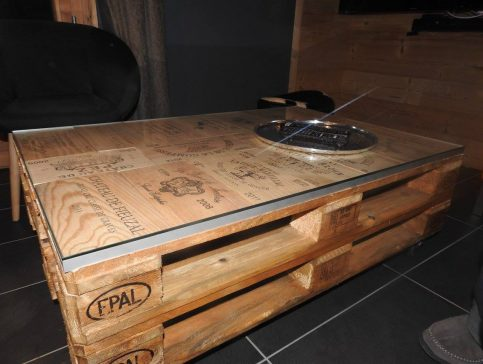 Table basse - Location chalet vacance Valmorel