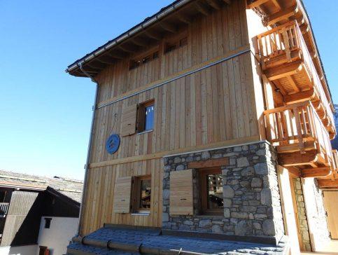 Facade soleil - Location chalet vacance Valmorel